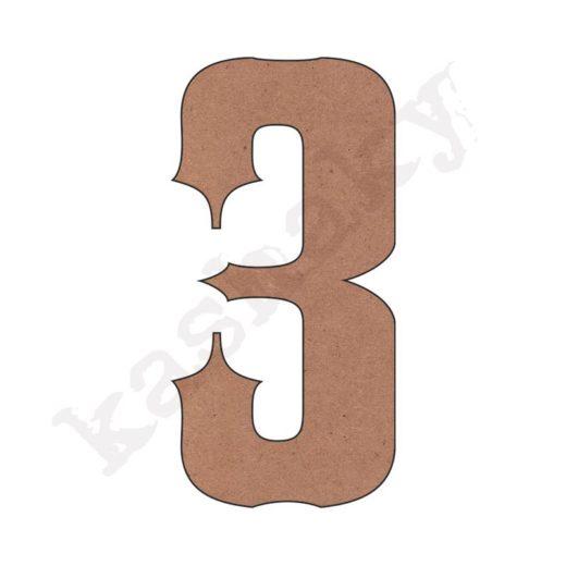 """NÚMERO """"3"""" VINTAGE - 03-003-NUM"""