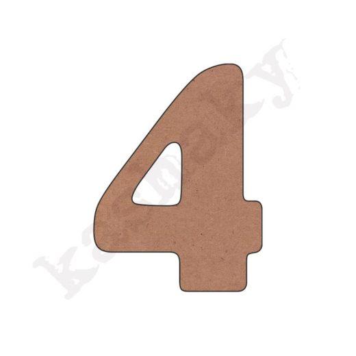 """NÚMERO """"4"""" INFANTIL - 04-002-NUM"""