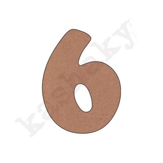 """NÚMERO """"6"""" INFANTIL - 06-002-NUM"""