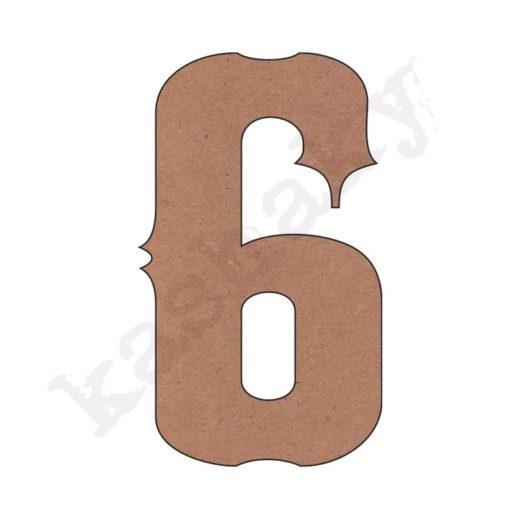 """NÚMERO """"6"""" VINTAGE - 06-003-NUM"""