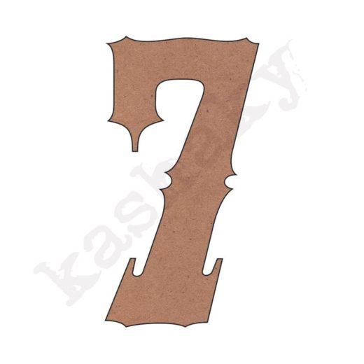"""NÚMERO """"7"""" VINTAGE - 07-003-NUM"""