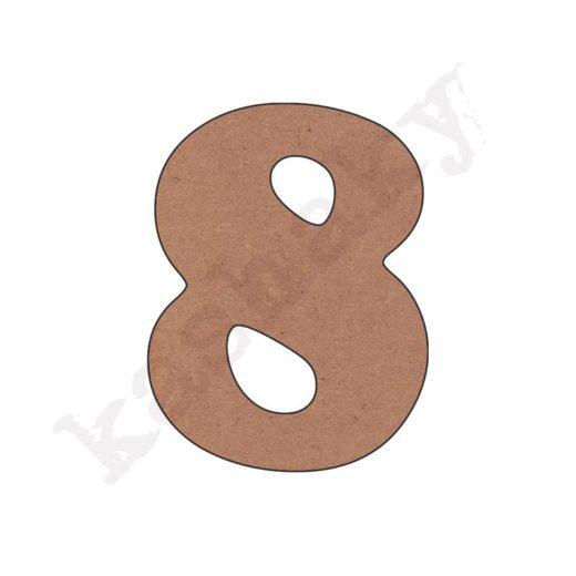 """NÚMERO """"8"""" INFANTIL - 08-002-NUM"""
