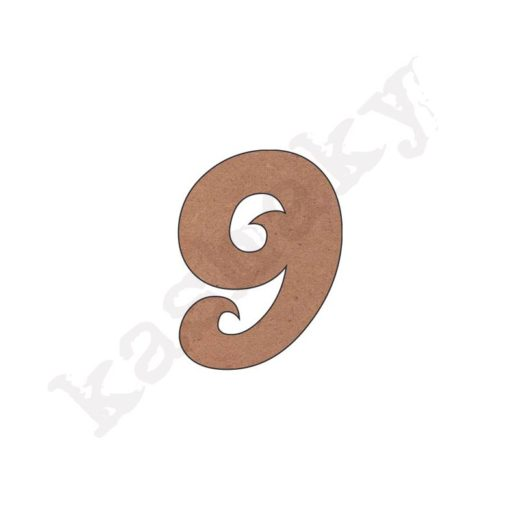 """NÚMERO """"9"""" ROSE - 09-001-NUM"""