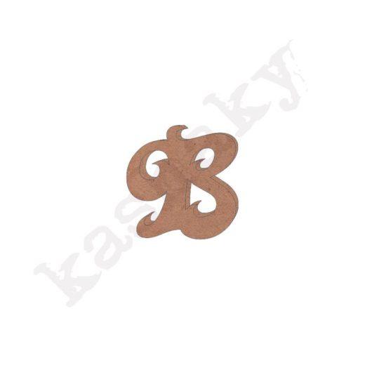 "ABECEDARIO ROSE MAYÚSCULA LETRA ""B"" - B1-001-ABC"