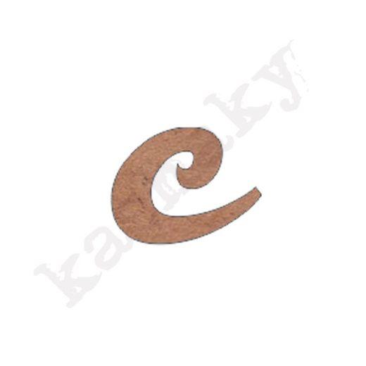 "ABECEDARIO ROSE MINÚSCULA LETRA ""C"" - C2-001-ABC"