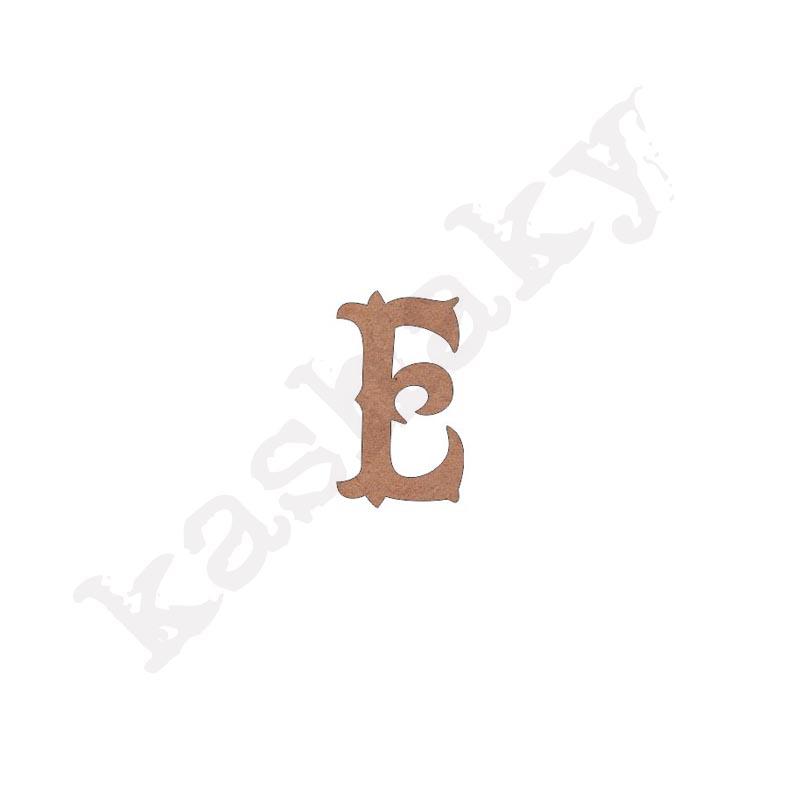 """ABECEDARIO """"VINTAGE"""" MAYÚSCULA LETRA """"E"""" - E1-003-ABC"""