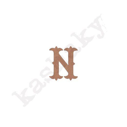 """ABECEDARIO """"VINTAGE"""" MAYÚSCULA LETRA """"N"""" - N1-003-ABC"""