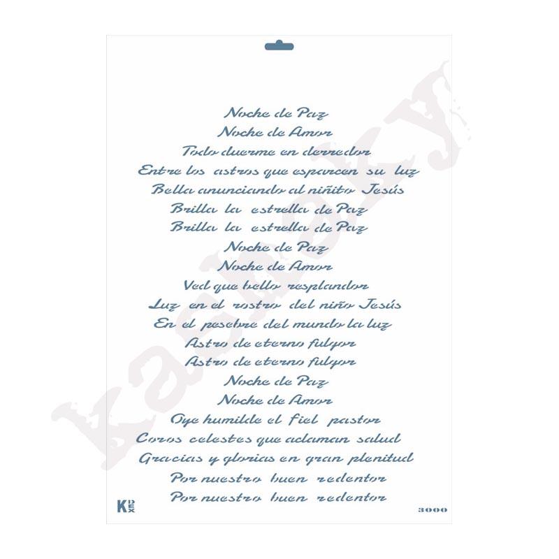 """Stencil DIN A3 """"Villancico Noche de Paz"""" - ST-3000-A3"""