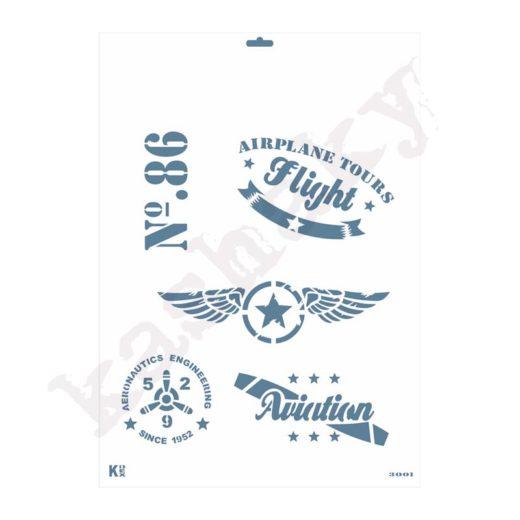 "Stencil DIN A3 ""Aeronáutica"" - ST-3001-A3"