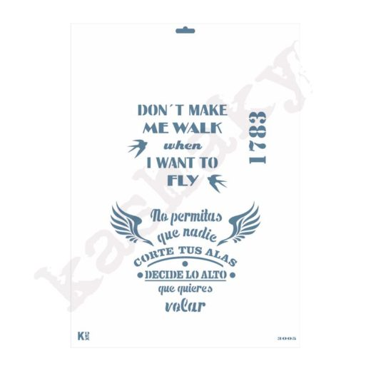 "Stencil DIN A3 ""Frases"" - ST-3005-A3"
