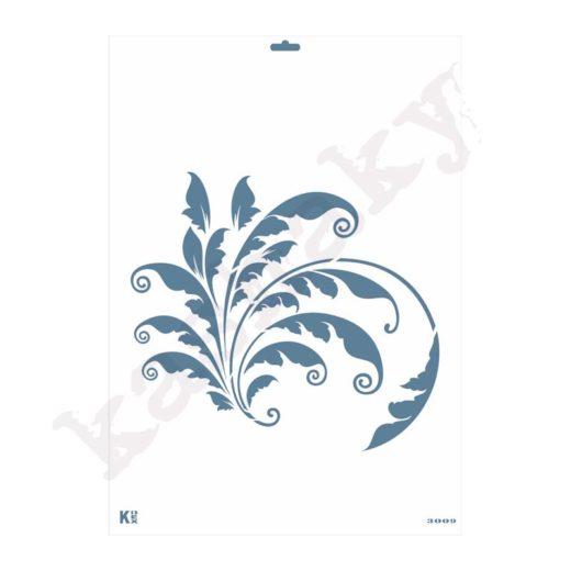 "Stencil DIN A3 ""Arabesco pluma"" - ST-3009-A3"