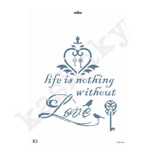 """Stencil DIN A3 """"La vida es nada..."""" - ST-3010-A3"""