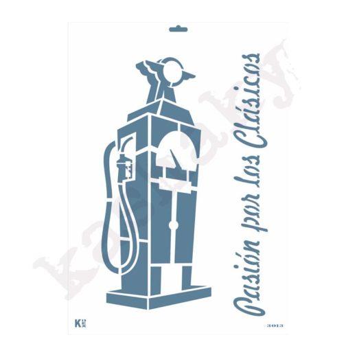 "Stencil DIN A3 ""Gasolinera Vintage"" - ST-3013-A3"