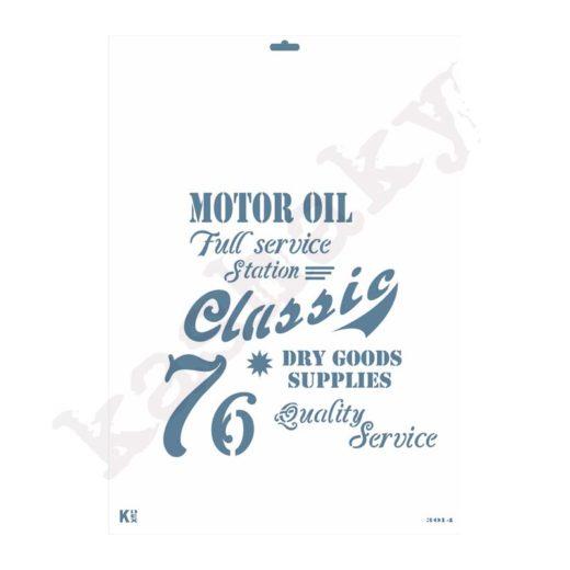 """Stencil DIN A3 """"Letras publicidad Vintage"""" - ST-3014-A3"""