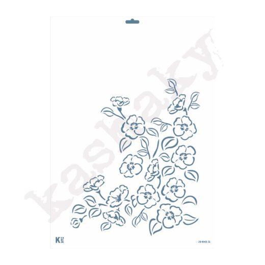 "Stencil DIN A3 ""Ramillete flores perfil"" - ST-3015-A3"