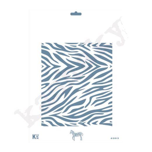 "Stencil DIN A4  Fondo ""Piel Cebra"" - ST-4103-A4"