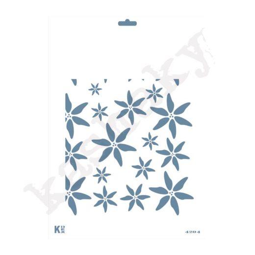 """Stencil DIN A4  Fondo """"Magnolias Sueltas"""" - ST-4204-A4"""