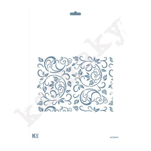 "Stencil DIN A4  Fondo ""Espirales / Hojas"" - ST-4206-A4"
