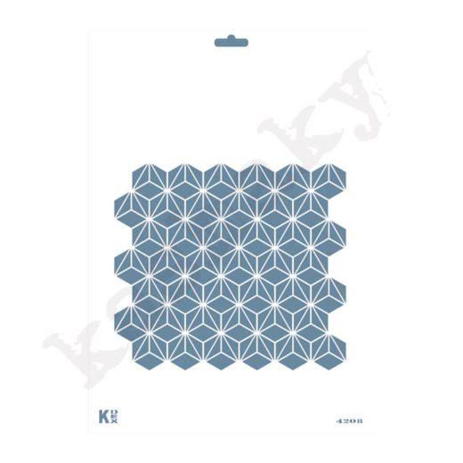 """Stencil DIN A4  Fondo """"Geometrico"""" - ST-4208-A4"""