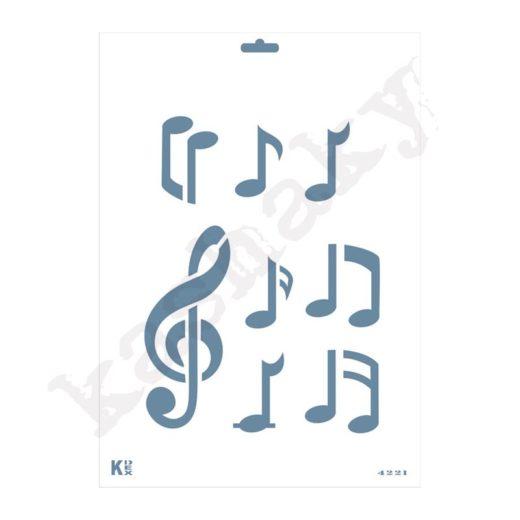 "Stencil DIN A4 "" Notas musicales"" - ST-4221-A4"