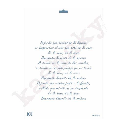 """Stencil DIN A4 """"Canción de Nana"""" - ST-4223-A4"""