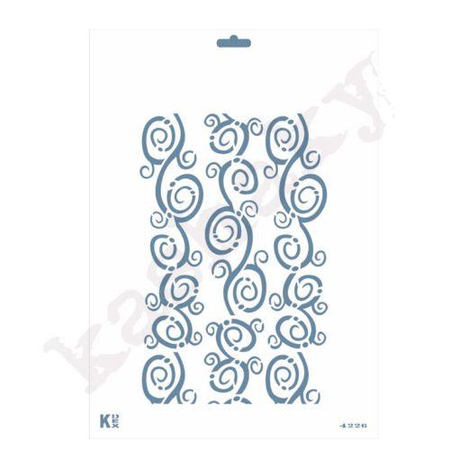 "Stencil DIN A4 ""Grecas espirales"" - ST-4226-A4"