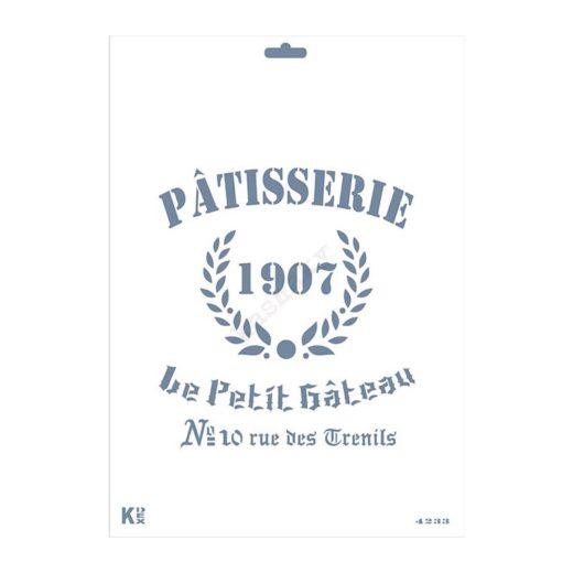 """Stencil DIN A4 """"Logo Pasteleria"""""""" - ST-4233-A4"""