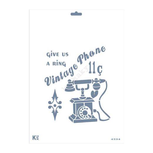 """Stencil DIN A4 """"Teléfono Vintage"""" - ST-4234-A4"""