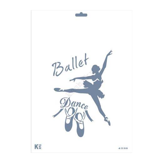 """Stencil DIN A4 """" Ballet"""" - ST-4238-A4"""