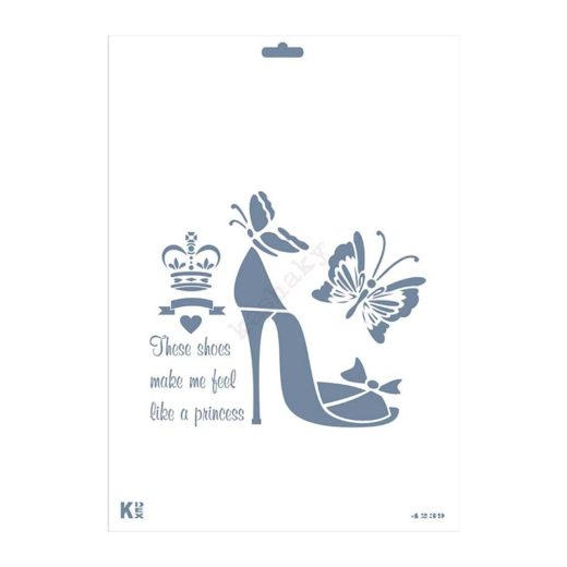 "Stencil DIN A4 ""Princess"" - ST-4239-A4"
