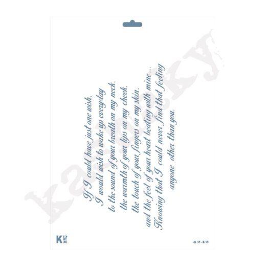 "Stencil DIN A4 ""Poema Inglés"" - ST-4242-A4"
