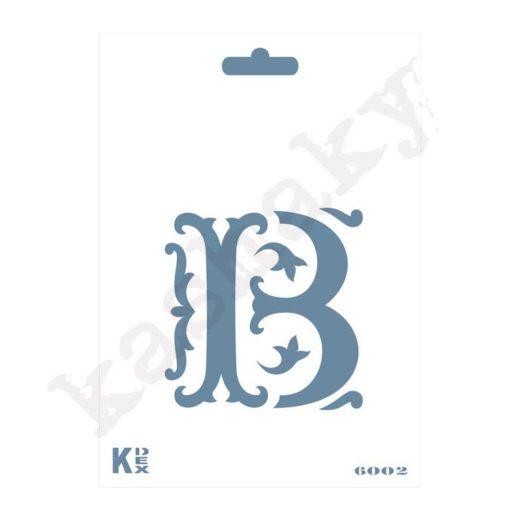 """Stencil  DIN A6 Inicial """"B"""" - ST-6002-A6"""