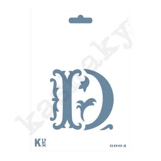 "Stencil  DIN A6 Inicial ""D"" - ST-6004-A6"