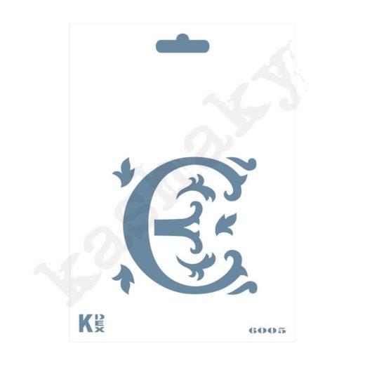 "Stencil  DIN A6 Inicial ""E"" - ST-6005-A6"
