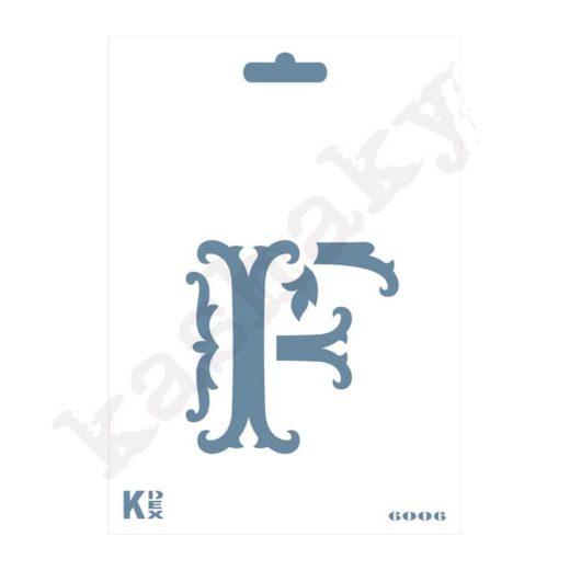 "Stencil  DIN A6 Inicial ""F"" - ST-6006-A6"