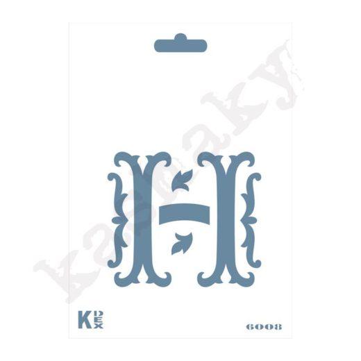 "Stencil  DIN A6 Inicial ""H"" - ST-6008-A6"