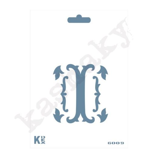 """Stencil  DIN A6 Inicial """"I"""" - ST-6009-A6"""