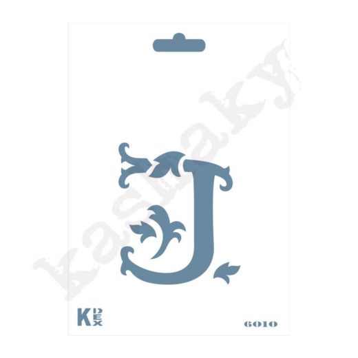 "Stencil  DIN A6 Inicial ""J"" - ST-6010-A6"