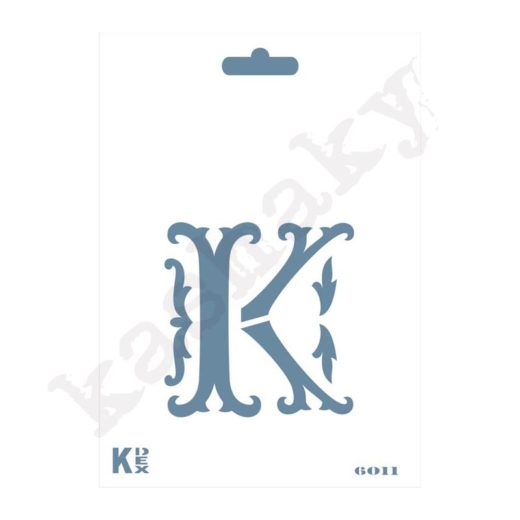 "Stencil  DIN A6 Inicial ""K"" - ST-6011-A6"