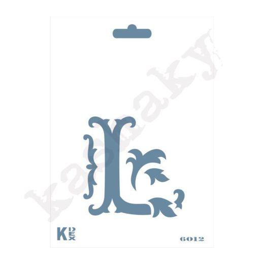 "Stencil  DIN A6 Inicial ""L"" - ST-6012-A6"