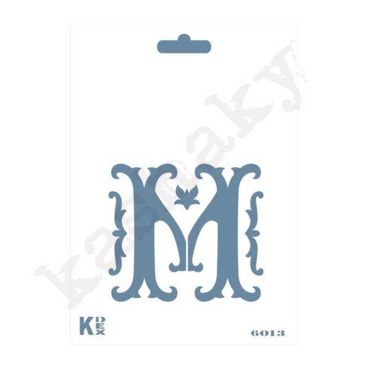 "Stencil  DIN A6 Inicial ""M"" - ST-6013-A6"