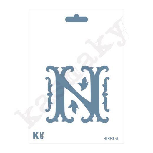 """Stencil  DIN A6 Inicial """"N"""" - ST-6014-A6"""