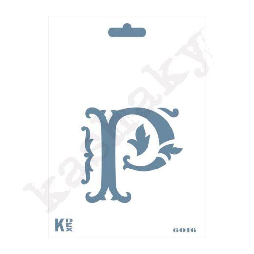 "Stencil  DIN A6 Inicial ""P"" - ST-6016-A6"