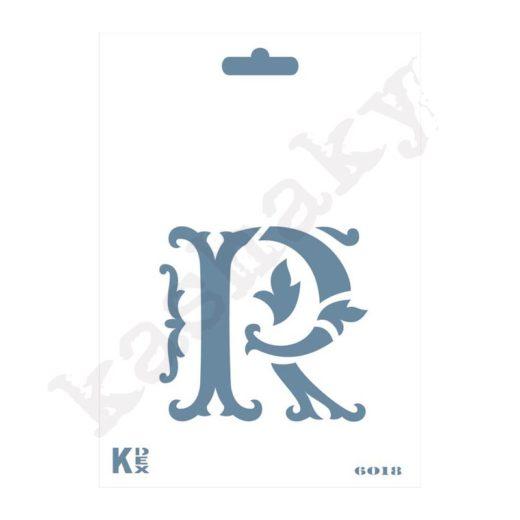"""Stencil  DIN A6 Inicial """"R"""" - ST-6018-A6"""