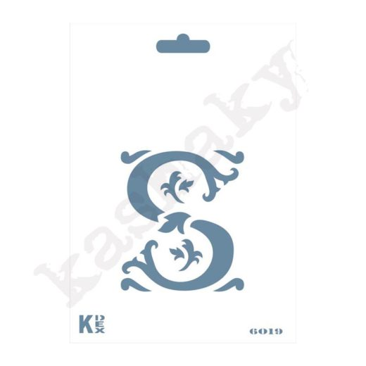 """Stencil  DIN A6 Inicial """"S"""" - ST-6019-A6"""
