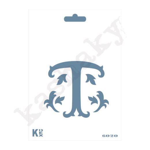 "Stencil  DIN A6 Inicial ""T"" - ST-6020-A6"