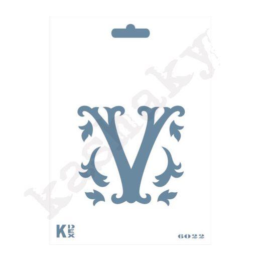 """Stencil  DIN A6 Inicial """"V"""" - ST-6022-A6"""