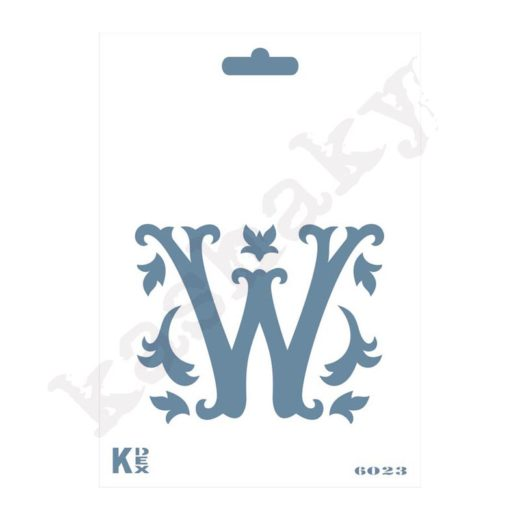 "Stencil  DIN A6 Inicial ""W"" - ST-6023-A6"