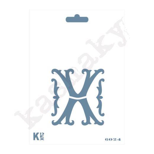 "Stencil  DIN A6 Inicial ""X"" - ST-6024-A6"