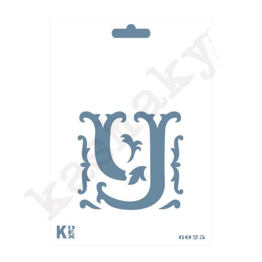 """Stencil  DIN A6 Inicial """"Y"""" - ST-6025-A6"""